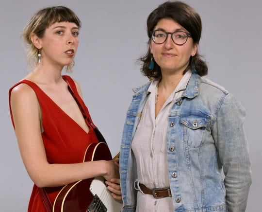 Caley Conway (left) performed two songs with Ellie Jackson in the Milwaukee Journal Sentinel's studios for the Journal's Sound Check series.