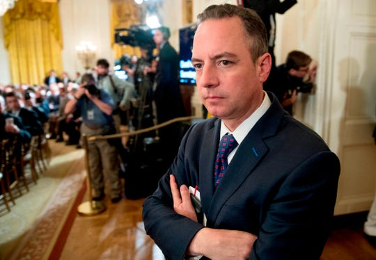 Reince Priebus, then-Donald Trump's Chief of Staff, attends an event in the East Room at the White House in Washington in June 2017.