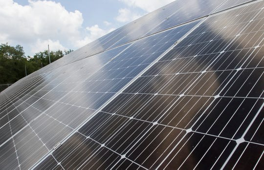 The West Monroe Sparta Reuse Facility uses solar panels to help off-set its electricity use while treating water to supply 5 million gallons of water, daily, to Graphic Packaging. Its the largest municipal solar farm in Louisiana.