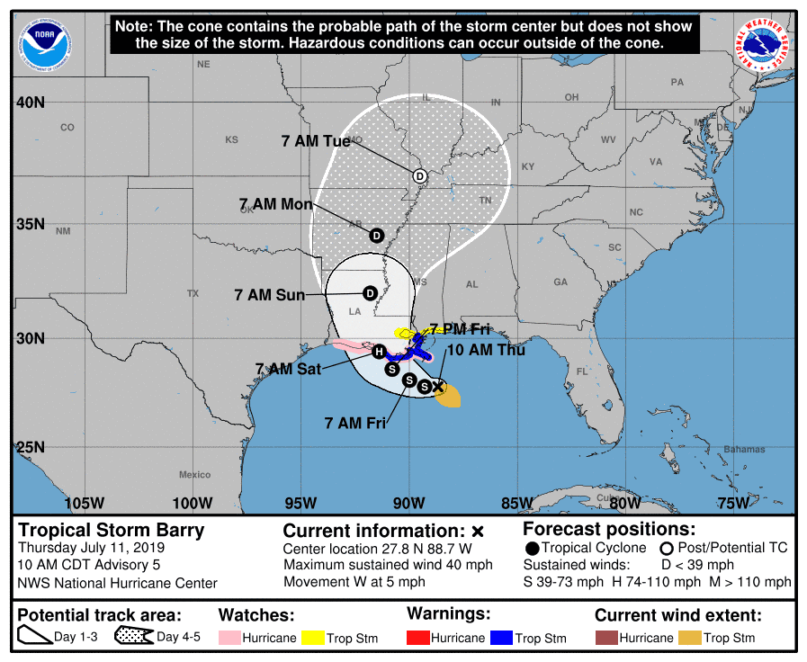 image relating to Hurricane Tracking Map Printable named Tropical storm Barry direction up grade: Perspective the observe with our