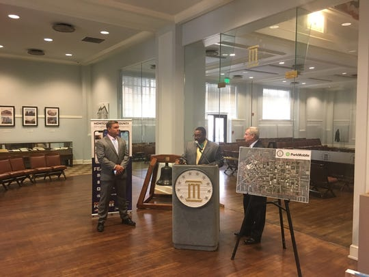 A representative from ParkMobile talks about the parking app now available for 1,700 spots in Montgomery
