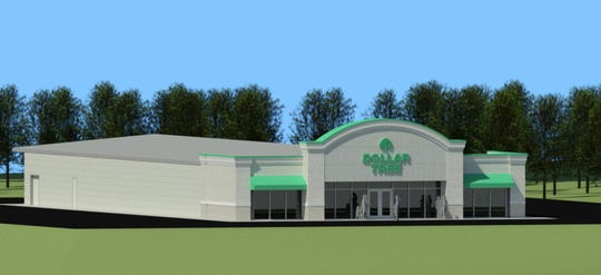 A rendering of a new Dollar Tree to open in Mt. Juliet on Lebanon Road.