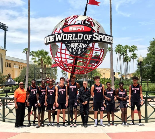 The Florida Phenoms, a basketball team comprised of eight players from Naples and one from Cape Coral, won the 10th grade AAU national championship at ESPN's Wide World of Sports in Orlando, on Wednesday, July 10, 2019.