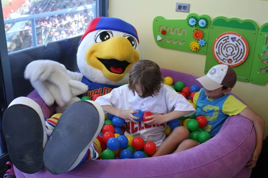 The Brooklyn Cyclones began planning out the Puzzle Piece Playhouse in January.