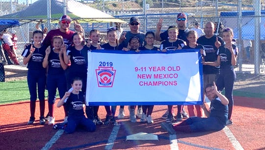 Deming All-Stars celebrate a pennant victory