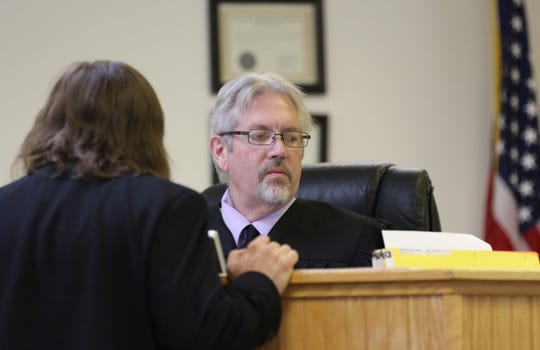 Aztec Magistrate Court Judge Barry Sharer denied a motion requesting Martha Crouch be released from the San Juan County Adult Detention Center during a preliminary hearing on July 11 in Aztec.