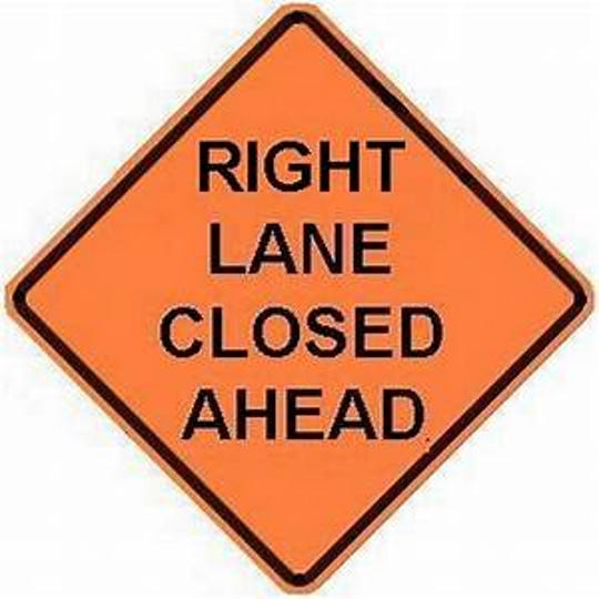 Lane closures will occur.