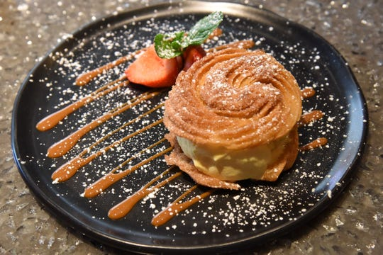 Churro Ice Cream Sandwich at Mexican restaurant Tac/Quila in Palm Springs, June 27, 2019.