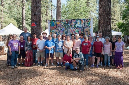 Artists come together to display their creations in Idyllwild. Pieces include woodwork, ceramics, paintings and more