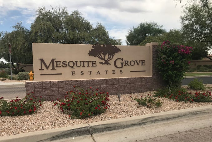 The shooting occurred within the gated community of Mesquite Grove Estates.