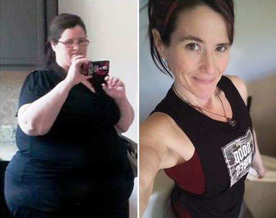 April Wood used to be 440 pounds and made changes in her life to lose 280 pounds.