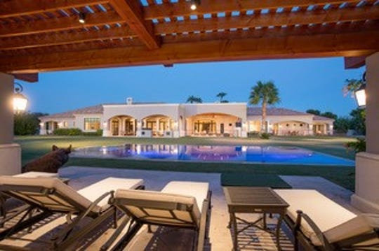 The $5.6M Paradise Valley mansion, sold by Judy and James J. Kearns, II, has a backyard that features a gazebo and a pool.