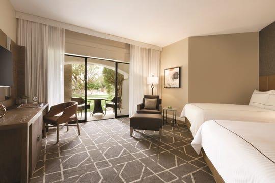 A look inside a renovated deluxe room at the Fairmont Scottsdale Princess