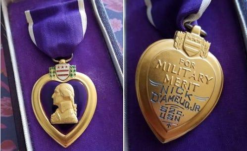 Purple Heart found in goodwill donation box