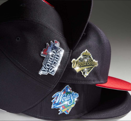 Crystal caps: New Era selling MLB hats with patches made