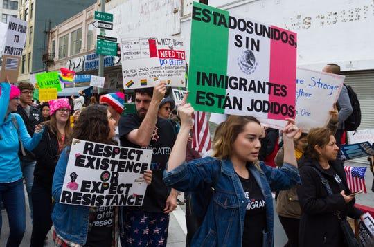 Protestan contra redadas de Trump en EEUU.