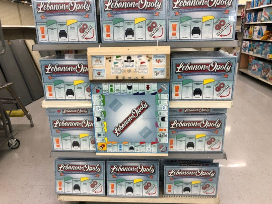 On store shelves now at Walmart on East Lehman Street, Lebanon-Opoly places a local twist on the classic, world-famous board game.