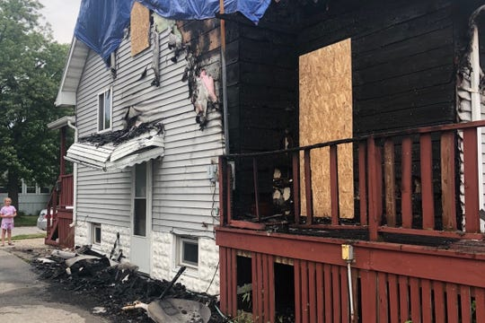 Much of the family home on Union Street between 16th and 15th streets in Port Huron was destroyed during a fire July 5, 2019.