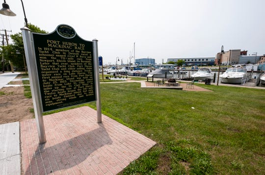 A historic marker honoring the Port Huron-to-Mackinac Island sailboat race was installed in the Quay Street Park in 2015.