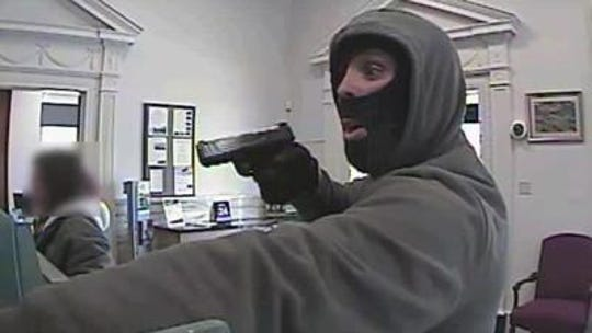 State and federal authorities said Derek Pelker robbed banks in York, Lebanon and Berks counties at gunpoint. On July 10, 2019, he was sentenced to more than 44 years in federal prison.