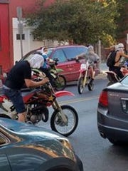 These masked dirt bike riders were photographed on city streets in 2016. York City Police say they have stepped up their interdiction efforts to curtail illegal dirt bike activity on city streets.