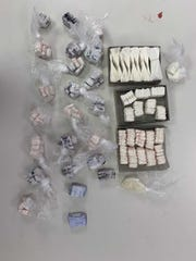 Heroin, crack cocaine and powder cociane seized in the recent arrest of Gregory Gordon.