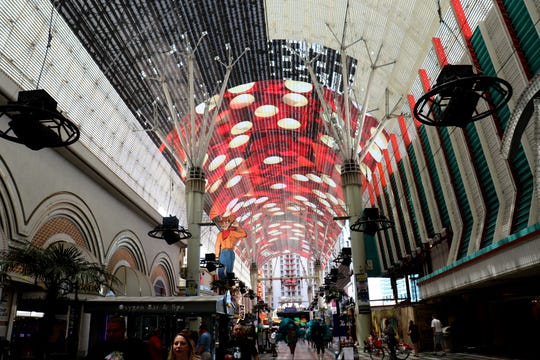Inside the Fremont Street Experience