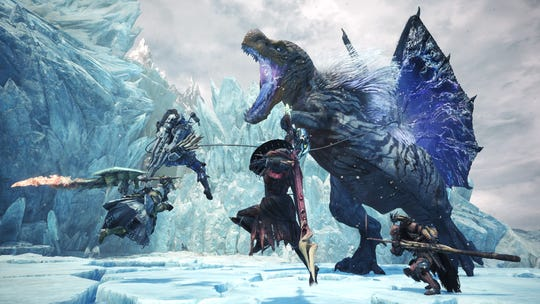 Fulgur Anjanath in the Monster Hunter World Iceborne expansion.