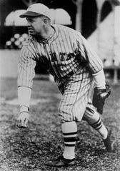 Burleigh Grimes in seen in this 1927 photo. In his only year with the New York Giants, Grimes had a record of 19-8.