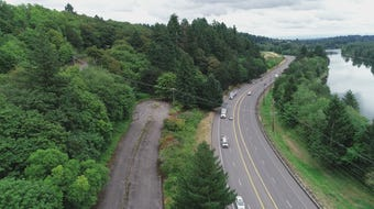 A look at the former rest area west of Salem closed since 2007.