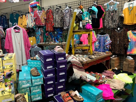 Inside Gypsy Chix Boutique is a variety of women's clothes along with shoes, jewelry and accessories.
