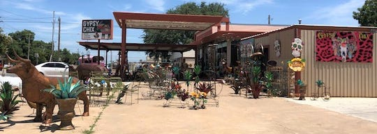 The current location of Gypsy Chix in San Angelo is at 1016 S. Koenighiem St.