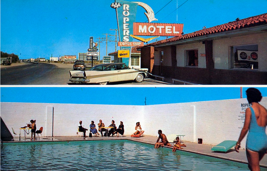 Ropers Motel in Pecos, Texas.