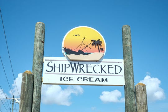 Shipwrecked in Ocean View serves locally-made Hopkins ice cream.