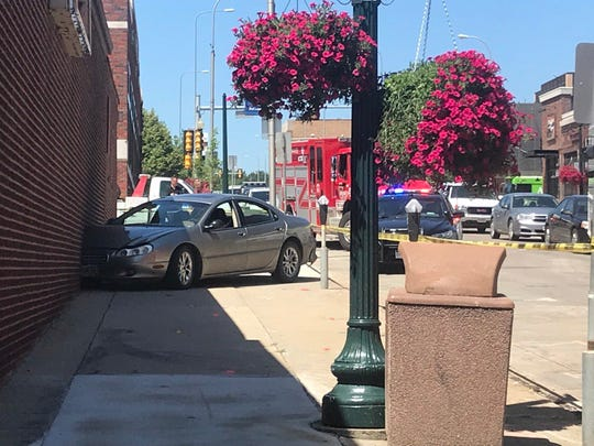 Around noon on Thursday, a vehicle crashed into the side of Minervas restaurant on 11th Street.
