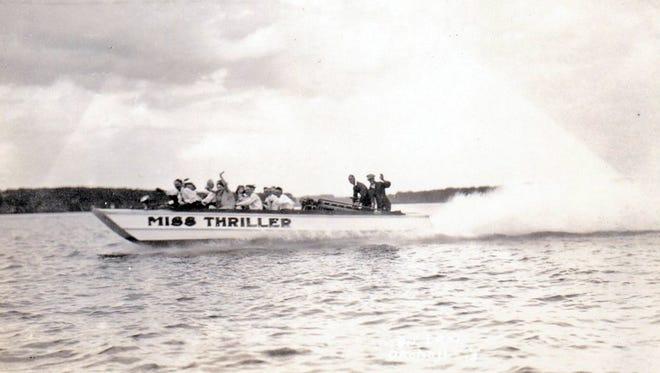 Miss Thriller races across West Lake Okoboji.