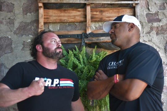"""Nick """"Eugene"""" Dinsmore (left) and Jonathan Coachman (right) have had a rivalry dating back to their time in the WWE."""