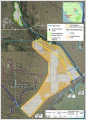 Map shows the Lake Okeechobee Watershed Restoration Project