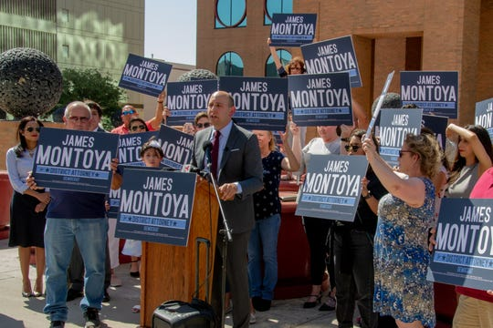 El Paso County Assistant District Attorney James Montoya announced that he would run for District Attorney and spoke in front of the county courthouse July 11, 2019. Montoya's key issues are getting in front of crimes, working to prevent murders and intoxicated manslaughter cases.
