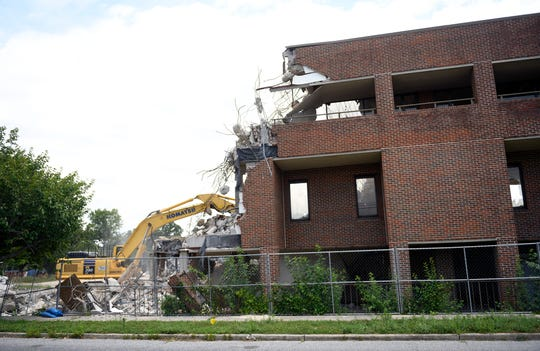 A new round of demolition work is under way at the former Newcomb Hospital site in Vineland on Thursday, July 11, 2019.