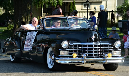 Jack and Shirley King were the Grand Marshals of the Dresden Homecoming Parade on Wednesday.