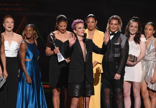 Best Team: U.S. Women's National Soccer Team.