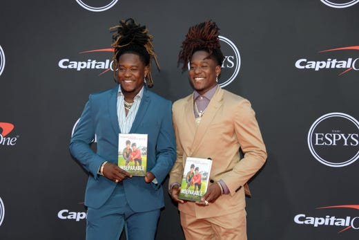 Shaquem Griffin and Shaquill Griffin, Seattle Seahawks players.