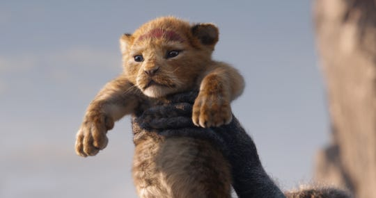 "Baby Simba is shown off to the denizens of Pride Rock in ""The Lion King."""