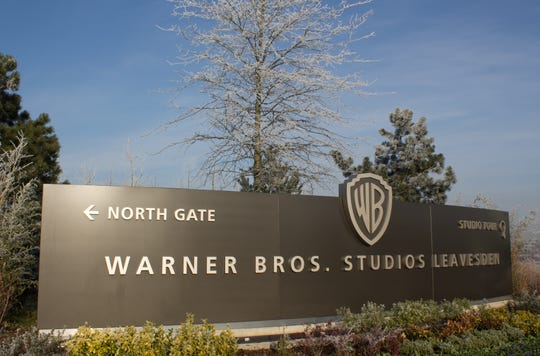 The entrance to Warner Bros. Studios Leavesden is shown in a file photo. The studio caught fire July 10.