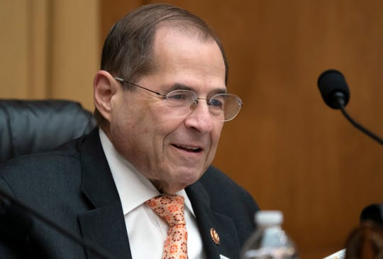 House Judiciary Committee Chairman Jerrold Nadler, D-N.Y., takes his seat June 26, 2019, for a hearing on Capitol Hill in Washington. The House Judiciary Committee is moving to authorize subpoenas for several people tied to special counsel Robert Mueller's report, including President Donald Trump's son in law, Jared Kushner, and former Attorney General Jeff Sessions.