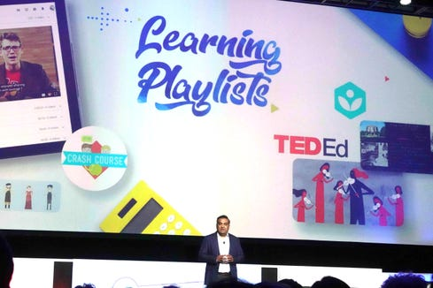 YouTUbe introduces the new Learning Playlists at VidCon