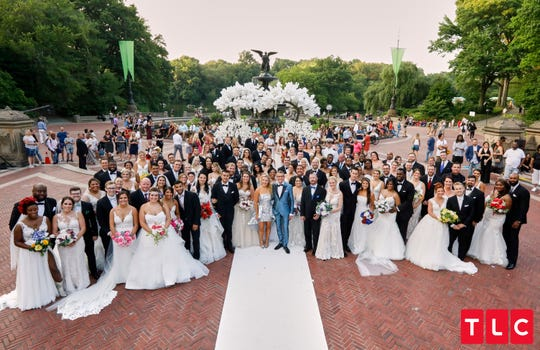 """Say Yes to the Dress: America"" wedding in Central Park on July 10, 2019."