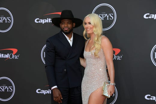 P.K. Subban, New Jersey Devils player, and Lindsey Vonn.