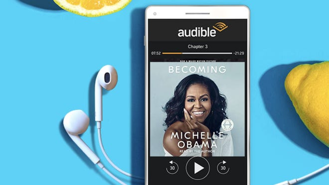 Turn your book on and the world off with Audible.